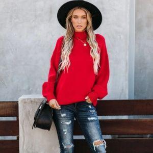 CAROLYN Mock Neck Sweater